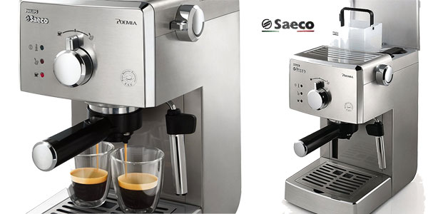Máquina de café express Saeco Poemia Inox HD8427/11 chollo en Amazon