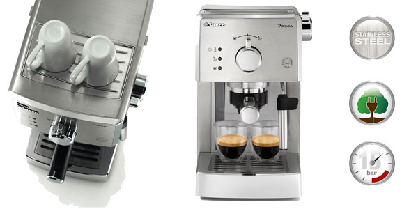 Máquina de café express Saeco Poemia Inox HD8427/11 chollazo en Amazon