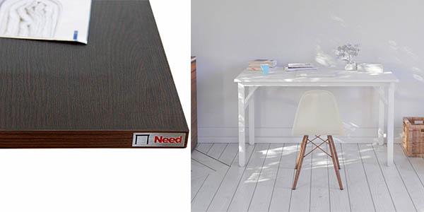 mesa de estructura en acero plegable y patas regulables