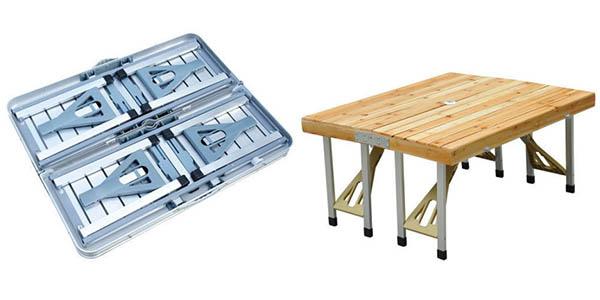 mesa exterior portátil para playa y cámping en oferta