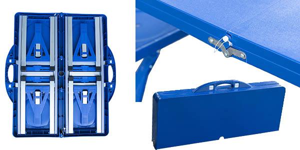 mesa picnic portátil resistente con asientos plegables