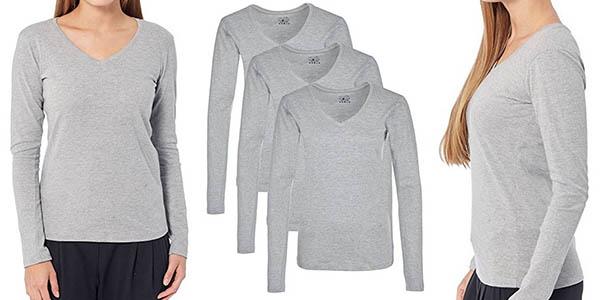 Para estrenar hermoso estilo artesanía exquisita Pack de 3 camisetas Berydale de manga larga para mujer por ...