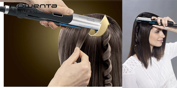 Plancha del pelo Rowenta Liss & Curl Ultimate Shine SF6220E0 chollazo en Amazon