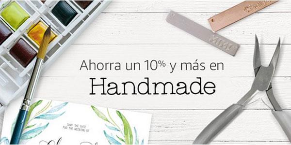 Promoción 10% de descuento o más en artículos Amazon Handmade