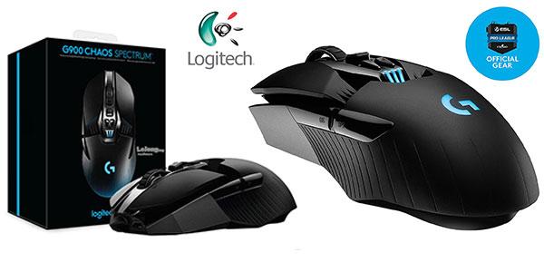 Ratón gaming Logitech G900 Chaos Spectrum inalámbrico 12000 dpi rebajado