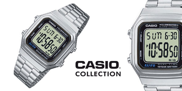 Chollo Reloj Casio Collection A178WEA-1AES unisex de estilo retro ... b590e61504d2