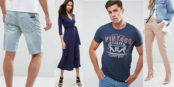 ropa rebajada de primeras marcas tienda inglesa Asos