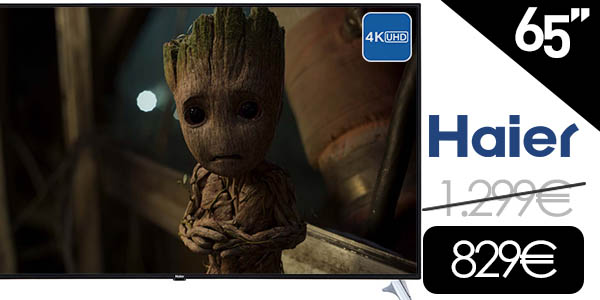 "Smart TV Haier U65H8000 UHD 4K de 65"" Netflix"