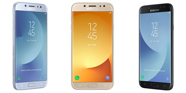 Smartphone libre Samsung Galaxy J7 (2017) dual negro, azul y dorado barato