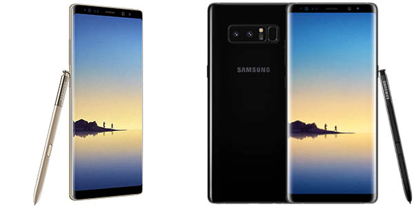 Samsung Galaxy Note 8 en negro u oro