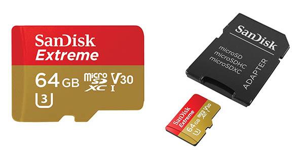 MicroSDXC SanDisk Extreme de 64GB barata