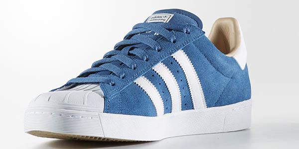zapatillas Adidas Superstar Vulc ADV azul gris chollo