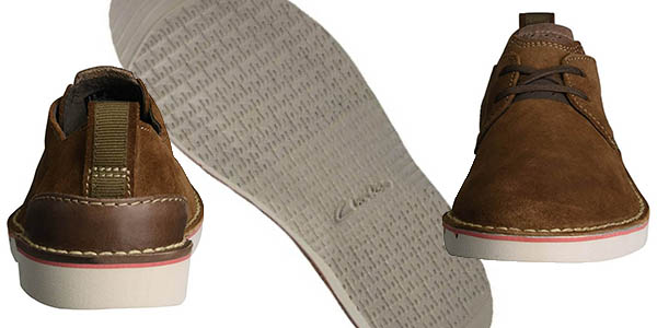 zapatos de diseño casual cuero terciopelo cómodos Clarks Capler Plain
