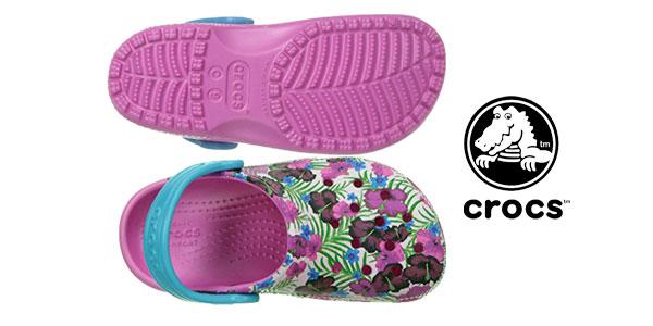 Zuecos Classic Graphic Clog K de Crocs chollo en Amazon