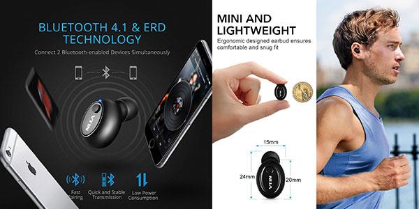 Auricular in-ear VicTsing Bluetooth 4.1 barato