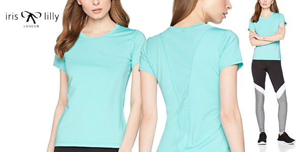 Camisetas técnicas para mujer Iris & Lilly Mesh Back chollo en Amazon