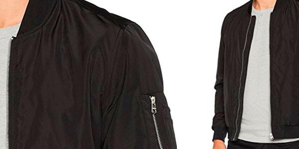 chaqueta bomber Springfield para hombre en color negro rebajada en Amazon