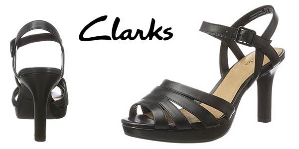 Clarks Mayra Poppy sandalias de tacón para mujer baratas