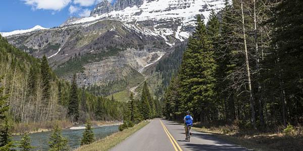 Glacier National Park Montana carretera parque natural