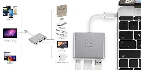 Hub USB-C Travel Inspira barato