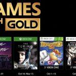 Juegos con Gold octubre 2017