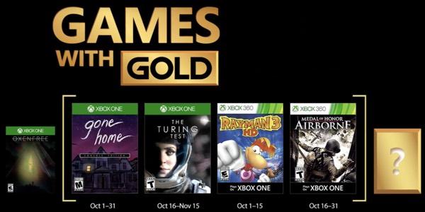 Estos Son Los Juegos Gratis Con Gold De Octubre 2017 Para Xbox One Y
