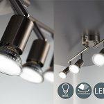 Lámpara de techo LED B.K. Licht con 4 focos orientables y bombillas de bajo consumo barata