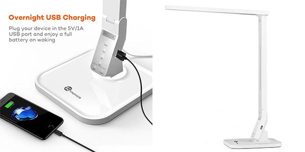 Lámpara LED y USB de escritorio Taotronics relajante rebajada