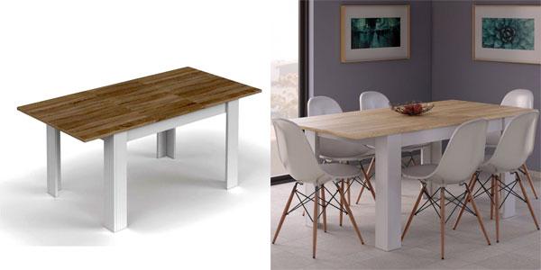 Chollazo Mesa Kendra para comedor o salón extensible hasta 190 cm ...
