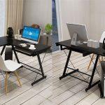 Mesa de ordenador esquinera con bandeja extraíble chollo en eBay