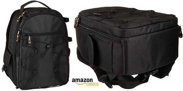 Mochila AmazonBasics para cámara réflex y accesorios de color negro rebajada