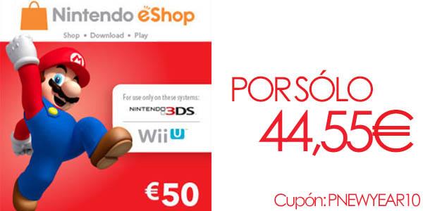 Tarjeta 50€ saldo eShop Nintendo