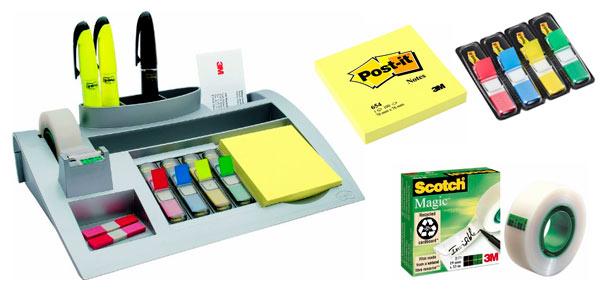 Chollo flash organizador de escritorio post it c50 con for Material de oficina precios