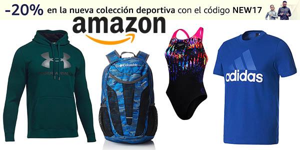 promoción ropa deportiva Nueva Temporada Amazon cupón descuento NEW17 septiembre 2017