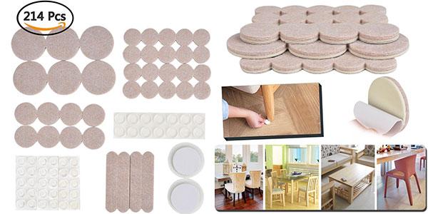 Oferta flash set de 214 almohadillas de fieltro y for Suelo adhesivo barato