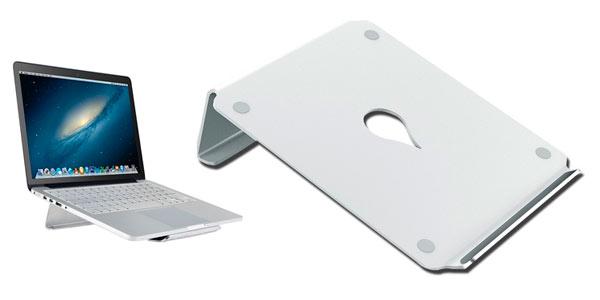 Soporte de escritorio en aluminio para portátil Macbook Pro barato en Amazon