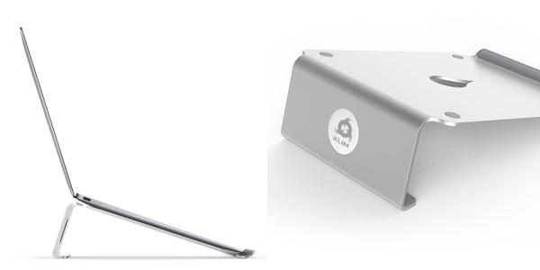 Soporte de escritorio para ordenador portátil acabado en aluminio