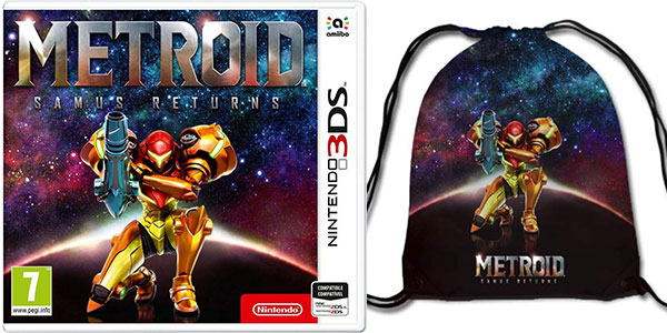 Videojuego Metroid Samus Returns para Nintendo 3DS con petate de regalo