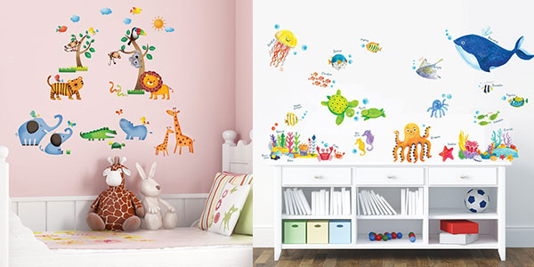 Chollo vinilos decorativos infantiles decowall removibles for Vinilos infantiles gigantes