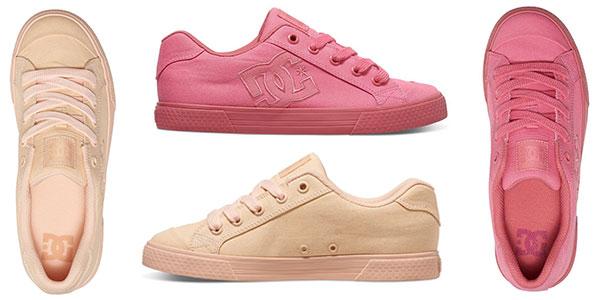 Zapatillas DC Shoes Chelsea TX para mujer de corte bajo en 2 colores