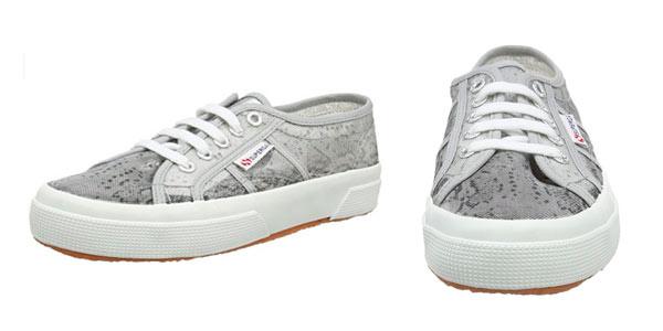 Zapatillas Superga 2850 en lona gris estampada a precio de chollo