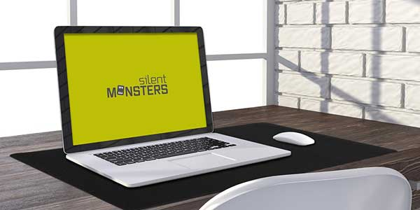 Alfombrilla gaming y para oficina Silent Monsters tamaño XXL barata en Amazon