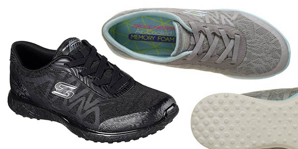 bambas Skechers Microbust Showdown plantilla Memory Foam cómodas