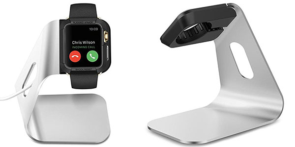 Base cargador Spigen SGP11555 de color blanco para Apple Watch al mejor precio