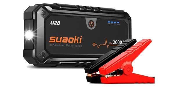 Arrancador de coche Suaoki U28 de 2000A chollo en Amazon