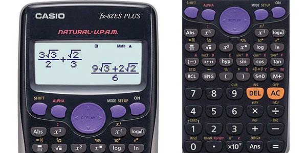 Calculadora Casio FX-82ES Plus con 252 funciones y 9 memorias rebajada
