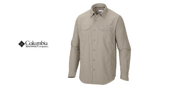 Camisa Columbia Silver Ridge Long Sleeve Shirt para hombre chollo en Amazon