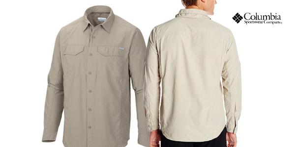 Camisa Columbia Silver Ridge Long Sleeve Shirt para hombre chollazo en Amazon
