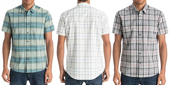 Camisa de manga corta Quiksilver Everyday Check para hombre barata