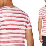 Camiseta EDC by Esprit a rayas azules o rojas para hombre chollo en Amazon